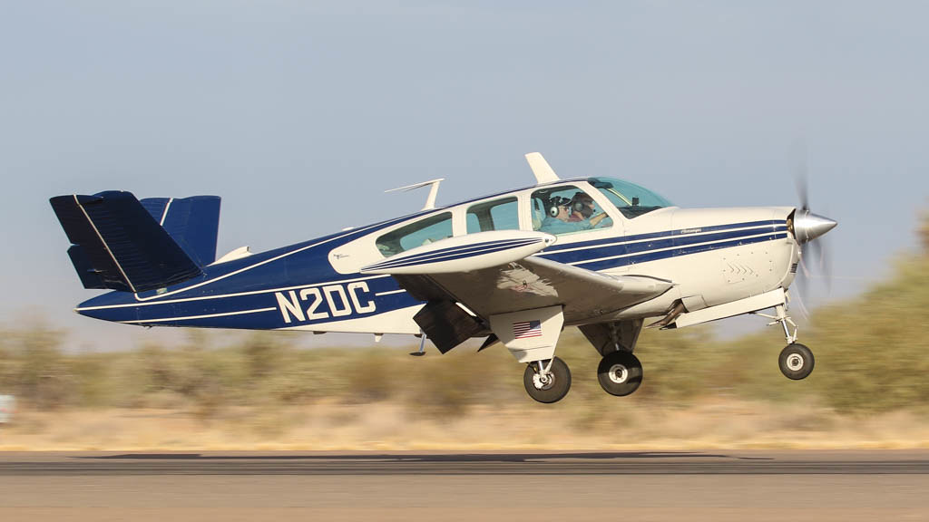 Beech S35 Bonanza N2DC | Landing at the Coolidge Fly-In