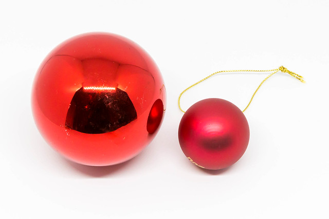 Red Christmas tree balls