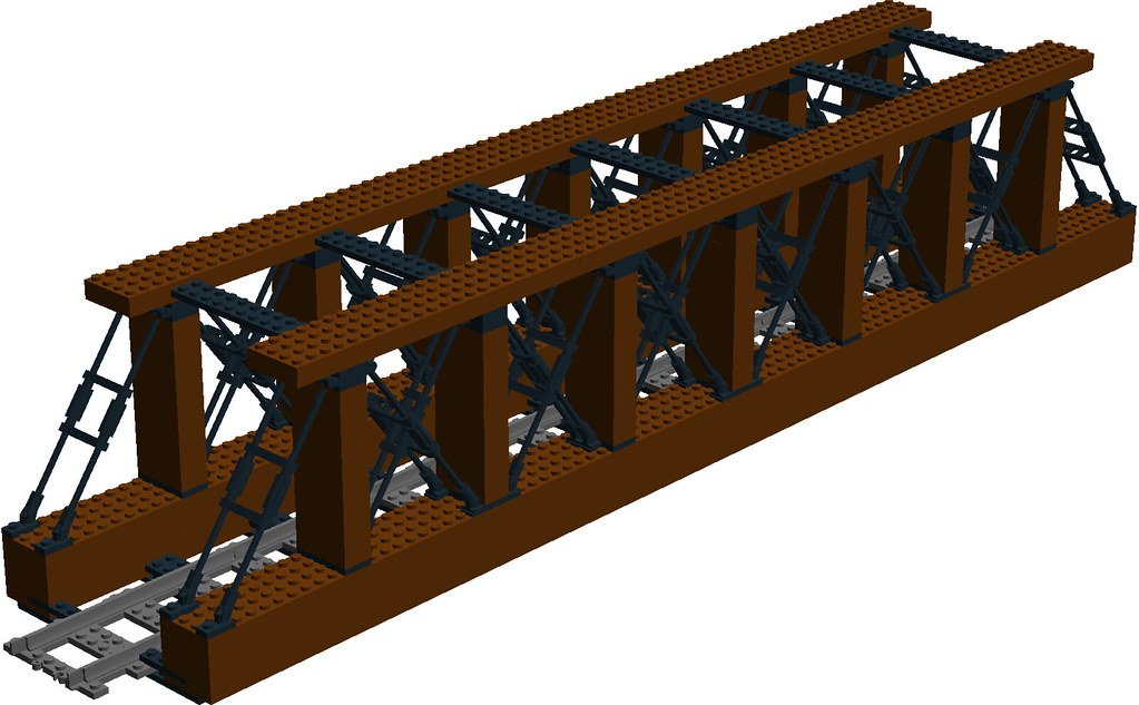Wild West Railroad Wooden Truss Bridge Main This Bridge Flickr