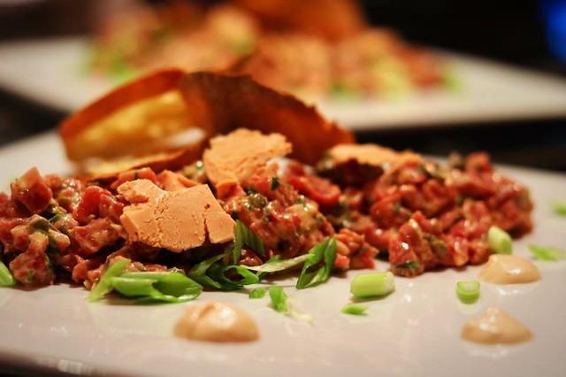 Beef and foie gras tartare