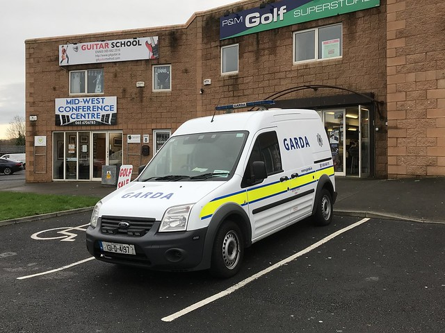 Irish Police Car - An Garda Síochána - Ford Transit Connect - Ennis, Ireland.