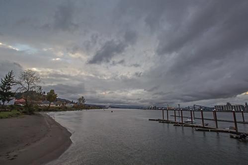 columbiariver lewisandclarkbridge river clouds water nature oregon rainieroregon