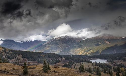 kendallmountain molaspass rainbow mountainstorm stormclouds clouds fallcolors landscape molaslake us550 milliondollarhighway newmexicogeologicalsociety 2017nmgsfallfieldconference