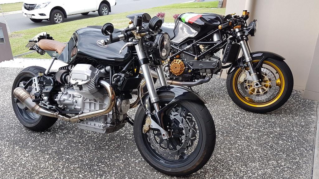 Moto Guzzi V11 Sport Cafe Racer and Ducati St2