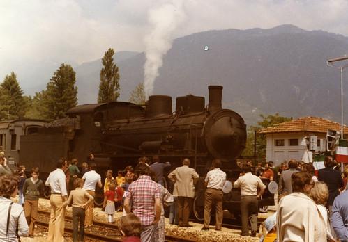 Amici della Ferrovia Italiana. Il treno a vapore a Strigno, 29 maggio 1977