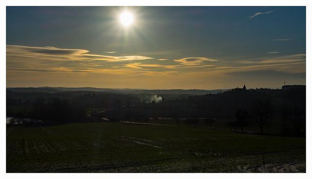 Sunrise over bohemian landscape