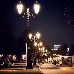 Lamp posts at Khorfakkan Beach Park