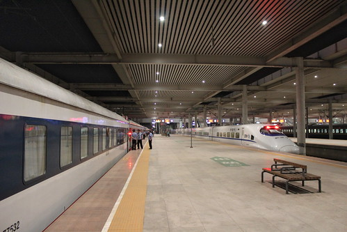 Train to Pyongyang at Tangshan train station | by Timon91