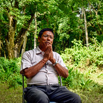 Meeting a community forest user group's chairman