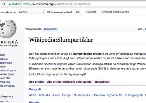Svensk Wikipedia - Slumpartiklar | by Kim Bach