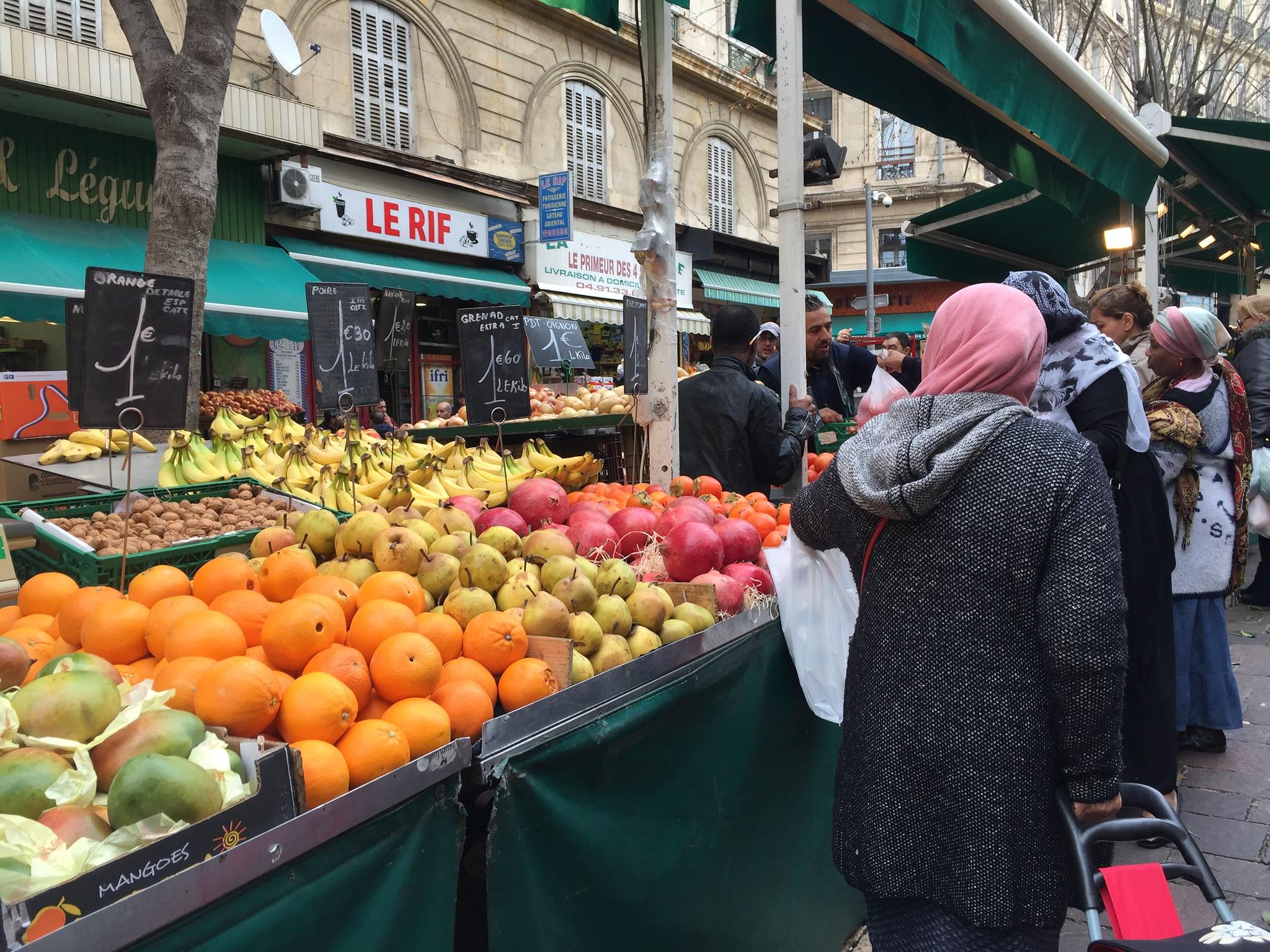 Marché de Noailles en Marsella