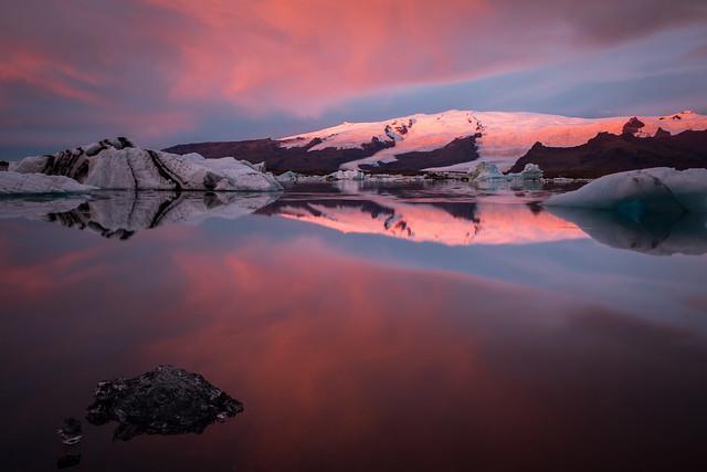 Lagune glaciaire Jökulsárlón, 7h16