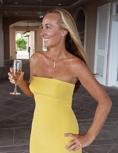 sexy beautiful yellow dress tan blonde vero beach palm orchid island golf club wedding champaign bikini florida polo portrait smile jay godfrey sunflower thompson