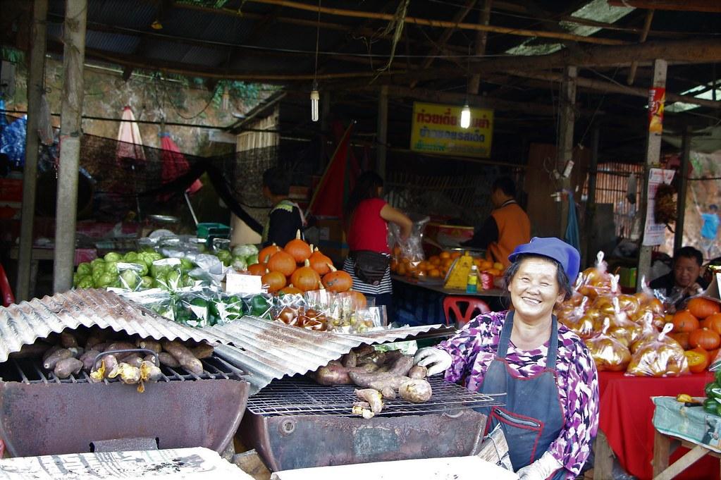 Thaiföldi piac talpalatnyitörténetek
