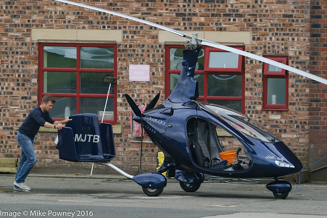 D-MJTB - AutoGyro Europe Cavalon, being prepared for an early departure next morning