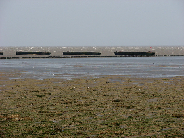 Coastal defences near Bradwell-on-Sea