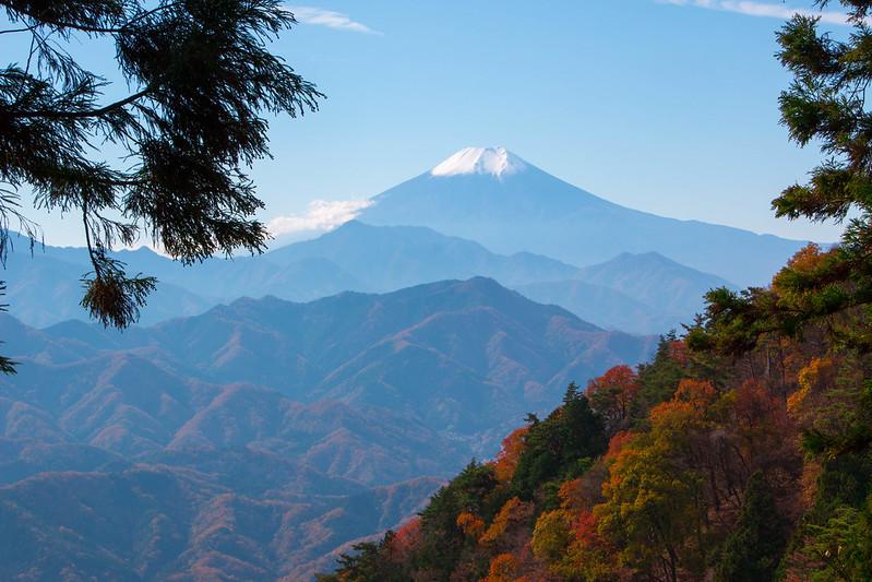扇山から見た富士山