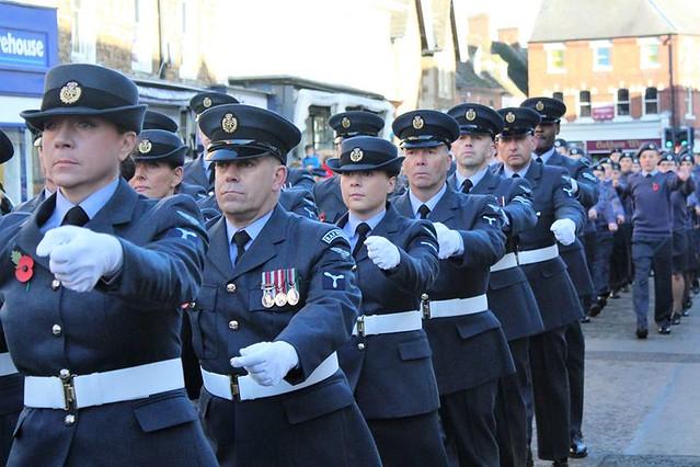 Remembrance Sunday Parade Oakham Rutland 2017