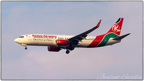 Kenya Airways 737   by Jwalant Swadia
