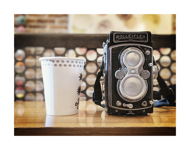 A Rolleiflex and a Cappuccino