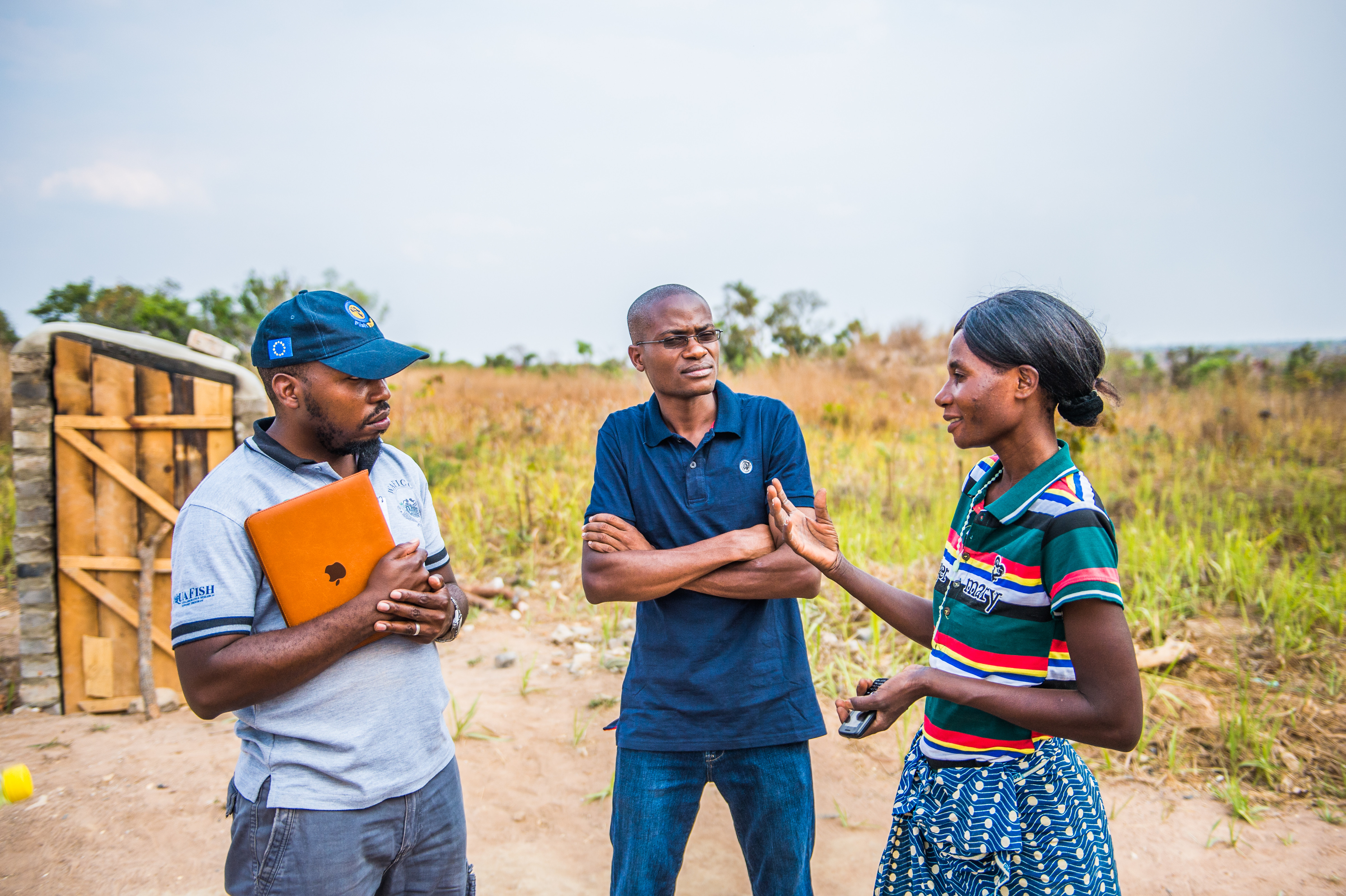 WorldFish staff perform frequent field visits to assist smallholder aquaculture farmers. Photo by Chosa Mweemba.