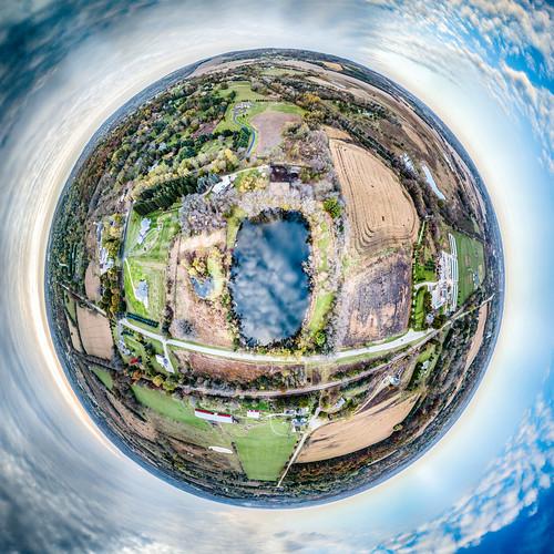 waukeshacounty october genesee littleplanet aerial tinyplanet drone dji mavic panorama wisconsin 360panorama usa 2017 unitedstates aerialphotography mavicpro djimavicpro waukesha us