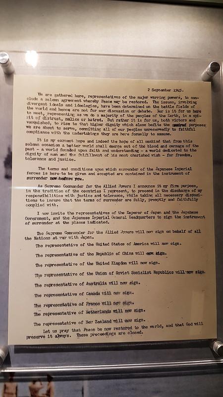 U.S.S. Missouri Pearl Harbour, NZ last to sign