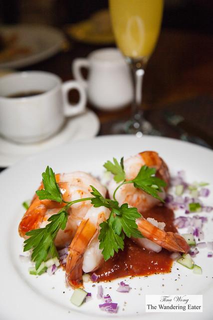 "Shrimp cocktail with ""23"" cocktail sauce"