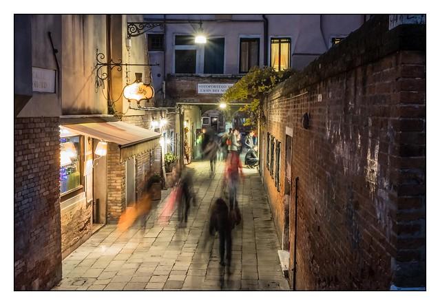 Busy street in Venice