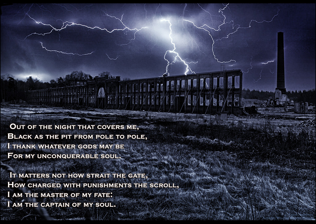 Poem Of Strength Invictus Excerpt From The Short Poem In