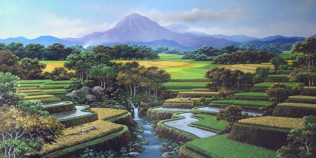Gambar Lukisan Hubungan Manusia Dengan Alam Sekitarnya Flickr
