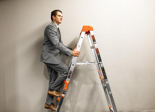 Man on a Ladder | by amtec_photos