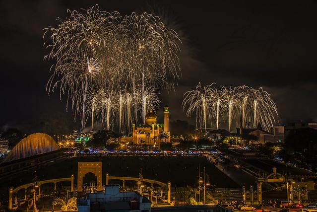 Fireworks At Taman Mahkota Jubli Emas