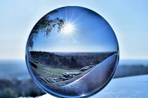 crystalball sunburst view morning round sphere ghe