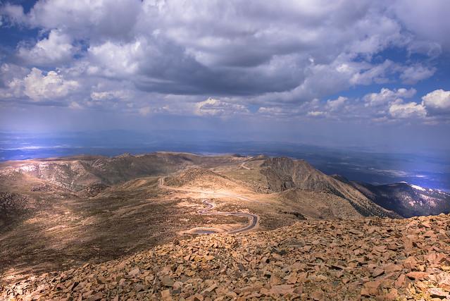 Road to Pikes Peak (4.301 m or 14.110 feet) - Colorado - USA