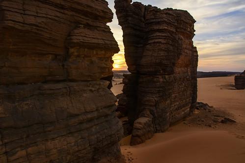 sáhara chad ennedi desierto desert atardecer sunset