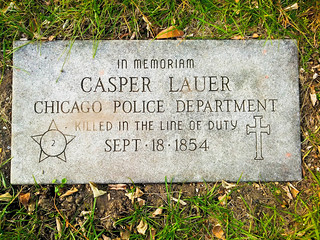 Grave Site of Casper Lauer, 2nd Cop Killed In The Line Of Duty