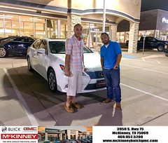 Happy Anniversary to Alfonso on your #Lexus #ES 350 from Preston Turner at McKinney Buick GMC!