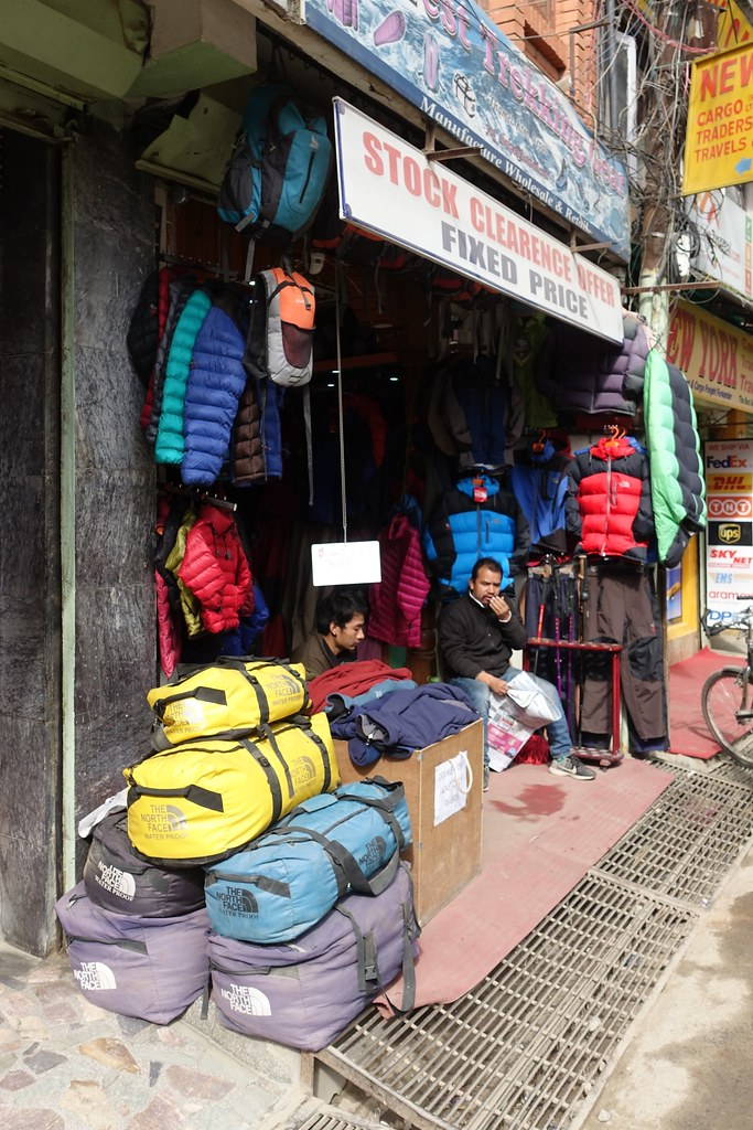 Fake kit | Kathmandu, Nepal  The North Face kit in this outf