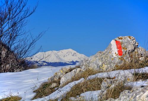 dicembre2017 december 2017 giorgiorodano nikon terminillo montecervia monticarseolani neve sentiero sentieroitalia hiking snow appennino apennines