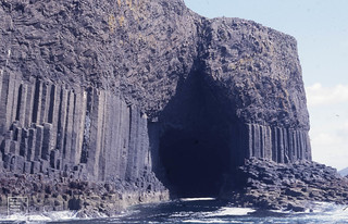 Fingals Cave clinker on 2 sets lava, 1987