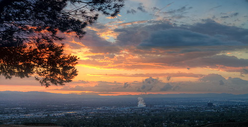 sunsets clouds sky glendale hollywoodhills trees landscape burbank urban