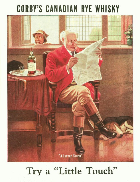 Corby's Canadian Rye Whisky ad, 1932