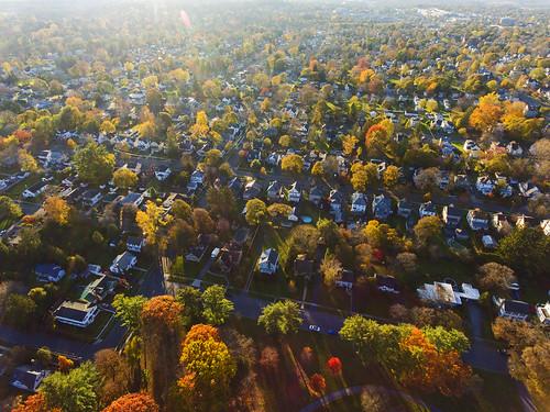 thursday weekend beautiful fall autumn city cityscape urban life auburn ny cny upstatenewyork sunset longlight living homes houses park hoopes dji drones dronephotography iamdji djiphantom4 phantom4 aerial aerialphotography