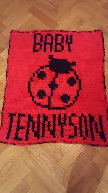 Ladybird blanket for Baby Tennyson