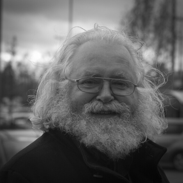 Belgian painter Jan Theuninck (photo Roger Hérion, 2017)