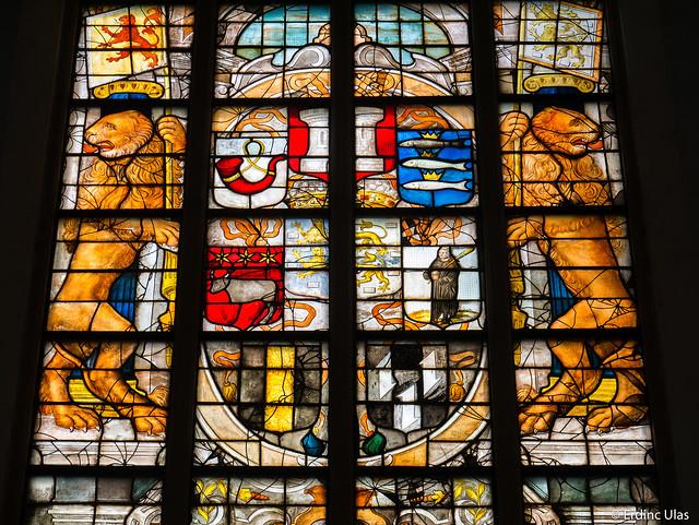 Leadlight church window