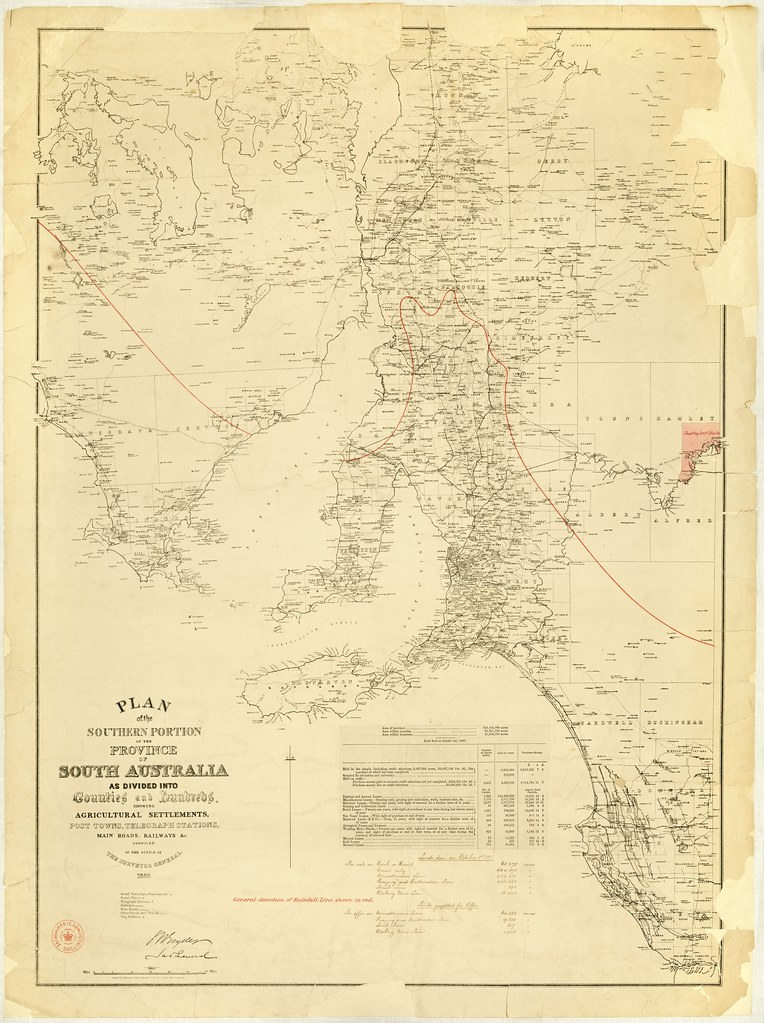 Map Of Australia 1880.Plan Of The Southern Portion Of The Province Of South Aust Flickr