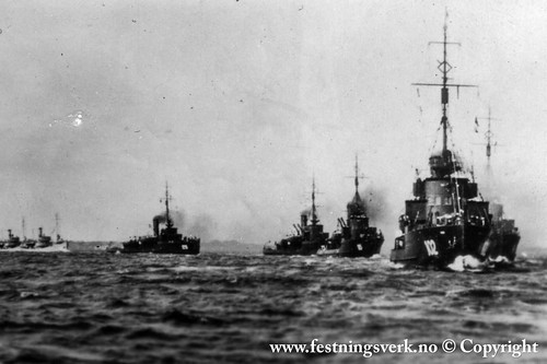 Tyske skip i Oslofjorden 1940