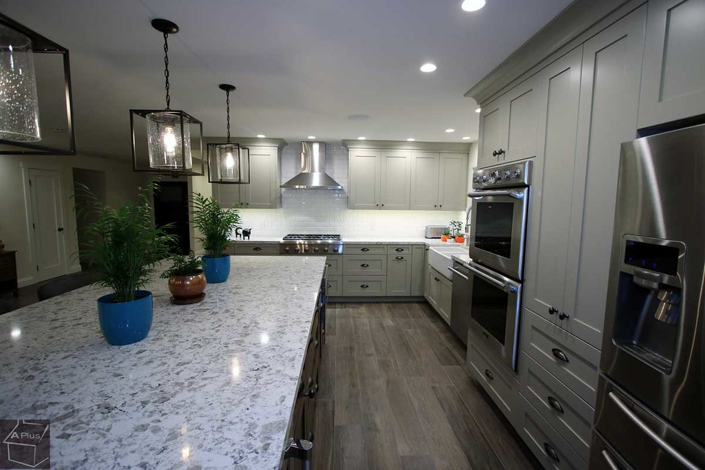 Kitchen Remodel With Custom Cabinets And Entertainment Cen Flickr